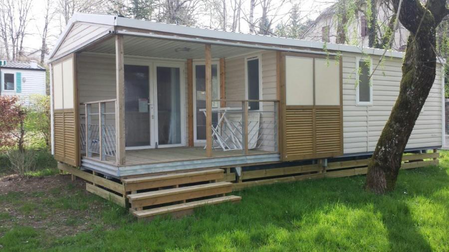 Woonkamer Naast Slaapkamer : Huuraccommodaties twee slaapkamer stacaravan camping le moulin