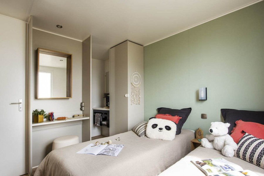 Airconditioning In Slaapkamer : Huuraccommodaties twee slaapkamer stacaravan camping le moulin